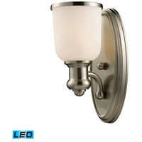 ELK Lighting Brooksdale 1 Light Wall Sconce in Satin Nickel 66160-1-LED