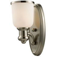 Brooksdale 1 Light 5 inch Satin Nickel Wall Sconce Wall Light in Incandescent
