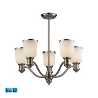 ELK Lighting Brooksdale 5 Light Chandelier in Satin Nickel 66163-5-LED