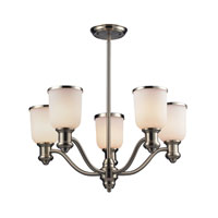 Brooksdale 5 Light 25 inch Satin Nickel Chandelier Ceiling Light in Standard