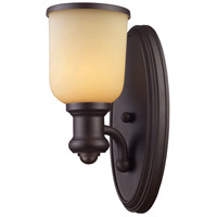 Brooksdale 1 Light 5 inch Oiled Bronze Wall Sconce Wall Light in Incandescent