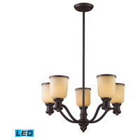 ELK Lighting Brooksdale 5 Light Chandelier in Oiled Bronze 66173-5-LED