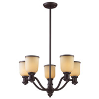 Brooksdale 5 Light 25 inch Oiled Bronze Chandelier Ceiling Light in Standard