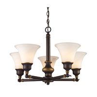 ELK Lighting Lurray 5 Light Chandelier in Aged Bronze 66177-5