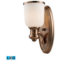 ELK Lighting Brooksdale 1 Light Wall Sconce in Antique Copper 66180-1-LED
