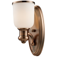 Brooksdale 1 Light 5 inch Antique Copper Wall Sconce Wall Light in Incandescent