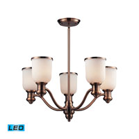 ELK Lighting Brooksdale 5 Light Chandelier in Antique Copper 66183-5-LED
