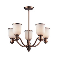 Brooksdale 5 Light 25 inch Antique Copper Chandelier Ceiling Light in Standard