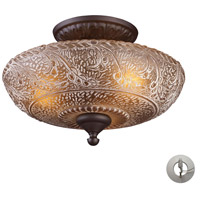 Norwich 3 Light 14 inch Oiled Bronze Semi-Flush Mount Ceiling Light in Recessed Adapter Kit