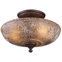Norwich 3 Light 14 inch Oiled Bronze Semi-Flush Mount Ceiling Light in Standard