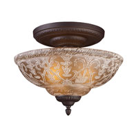 ELK Lighting Norwich 3 Light Semi-Flush Mount in Oiled Bronze 66192-3