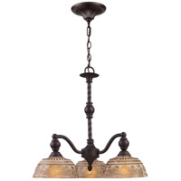 ELK Lighting Norwich 3 Light Chandelier in Oiled Bronze 66196-3