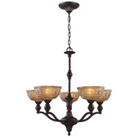 Norwich 5 Light 28 inch Oiled Bronze Chandelier Ceiling Light
