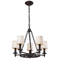 Ironton 5 Light 25 inch Vintage Rust Chandelier Ceiling Light
