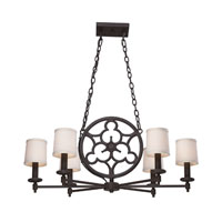 ELK 66199-6 Ironton 6 Light 36 inch Vintage Rust Chandelier Ceiling Light