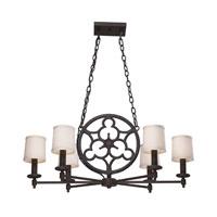 ELK 66199-6 Ironton 6 Light 36 inch Vintage Rust Chandelier Ceiling Light