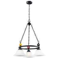 Billiards 3 Light 23 inch Matte Black Chandelier Ceiling Light