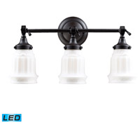ELK 66213-3-LED Quinton Parlor LED 20 inch Oiled Bronze Bath Bar Wall Light in 3