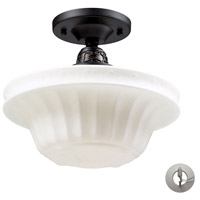 Quinton Parlor 1 Light 11 inch Oiled Bronze Semi-Flush Mount Ceiling Light in Incandescent, Recessed Adapter Kit