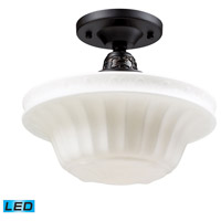 Quinton Parlor LED 11 inch Oiled Bronze Semi-Flush Mount Ceiling Light in Standard
