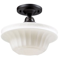 ELK Lighting Quinton Parlor 1 Light Semi-Flush Mount in Oiled Bronze 66221-1
