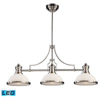 ELK 66225-3-LED Chadwick LED 47 inch Satin Nickel Billiard Light Ceiling Light