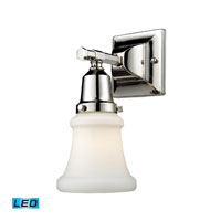 ELK Lighting Barton 1 Light Bath Bar in Polished Nickel 66230-1-LED