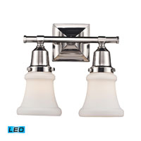 ELK Lighting Barton 2 Light Bath Bar in Polished Nickel 66231-2-LED