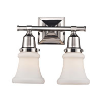 ELK Lighting Barton 2 Light Bath Bar in Polished Nickel 66231-2