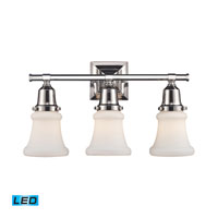 ELK Lighting Barton 3 Light Bath Bar in Polished Nickel 66232-3-LED