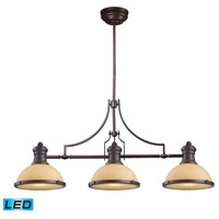 ELK Lighting Chadwick 3 Light Billiard/Island in Oiled Bronze 66235-3-LED