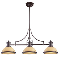 elk chadwick 3 light 47 inch oiled bronze ceiling light