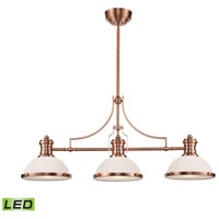 ELK 66245-3-LED Chadwick LED 47 inch Antique Copper Billiard Light Ceiling Light photo thumbnail
