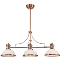 ELK 66245-3 Chadwick 3 Light 47 inch Antique Copper Billiard/Island Ceiling Light in Standard