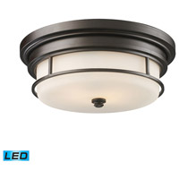 ELK Lighting Newfield 2 Light Flush Mount in Oiled Bronze 66254-2-LED