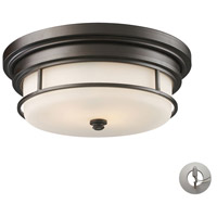 Newfield 2 Light 13 inch Oiled Bronze Flushmount Ceiling Light in Incandescent, Recessed Adapter Kit