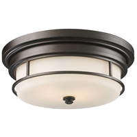 Newfield 2 Light 13 inch Oiled Bronze Flush Mount Ceiling Light in Incandescent, Standard