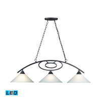 ELK Lighting Billiards 3 Light Pendant in Matte Black 66263-3-LED