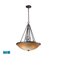 Cog And Chain LED 20 inch Vintage Rust Pendant Ceiling Light