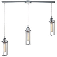 ELK 66317/3L Fulton 3 Light 36 inch Polished Chrome Linear Pendant Ceiling Light in Linear with Recessed Adapter