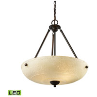 Restoration LED 18 inch Aged Bronze Pendant Ceiling Light in 4