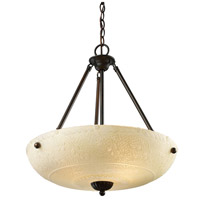 ELK 66322-4 Restoration 4 Light 18 inch Aged Bronze Pendant Ceiling Light in 3, Incandescent