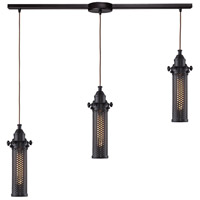 Fulton 3 Light 36 inch Oil Rubbed Bronze Linear Pendant Ceiling Light in Linear with Recessed Adapter