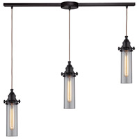 ELK 66326/3L Fulton 3 Light 36 inch Oil Rubbed Bronze Linear Pendant Ceiling Light in Linear with Recessed Adapter