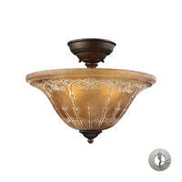 ELK Lighting Restoration 3 Light Semi-Flush Mount in Aged Bronze 66341-3-LA