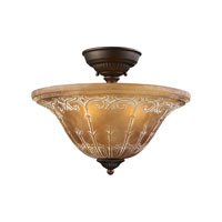 ELK Lighting Restoration 3 Light Semi-Flush Mount in Aged Bronze 66341-3