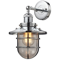 ELK 66346/1 Seaport 1 Light 8 inch Polished Chrome Wall Sconce Wall Light