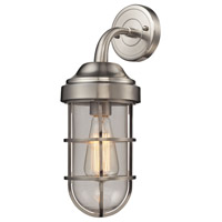 ELK Lighting Seaport 1 Light Sconce in Satin Nickel 66355/1