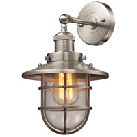 ELK 66356/1 Seaport 1 Light 8 inch Satin Nickel Sconce Wall Light