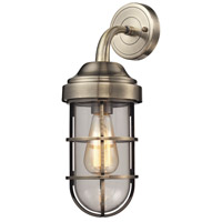 ELK Lighting Seaport 1 Light Sconce in Antique Brass 66375/1